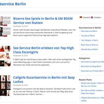 Sexkontakte mit Escort Huren über Escortservice Berlin Blog