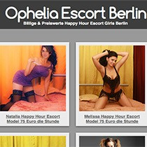Ophelia Escort Berlin bietet Happy Hour Sex mit Huren & Nutten